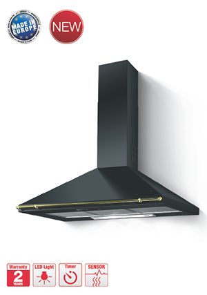 chimney hood black panel hh-cb90a